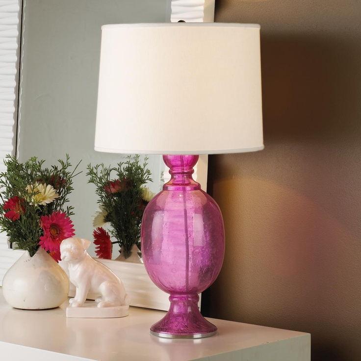 seeded glass table lamp photo - 7
