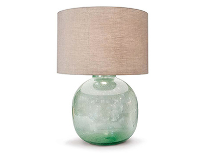seeded glass table lamp photo - 8