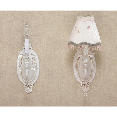 shabby chic wall light photo - 10