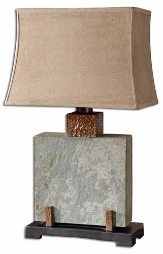 slate table lamp photo - 10