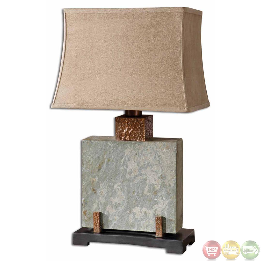 slate table lamp photo - 3