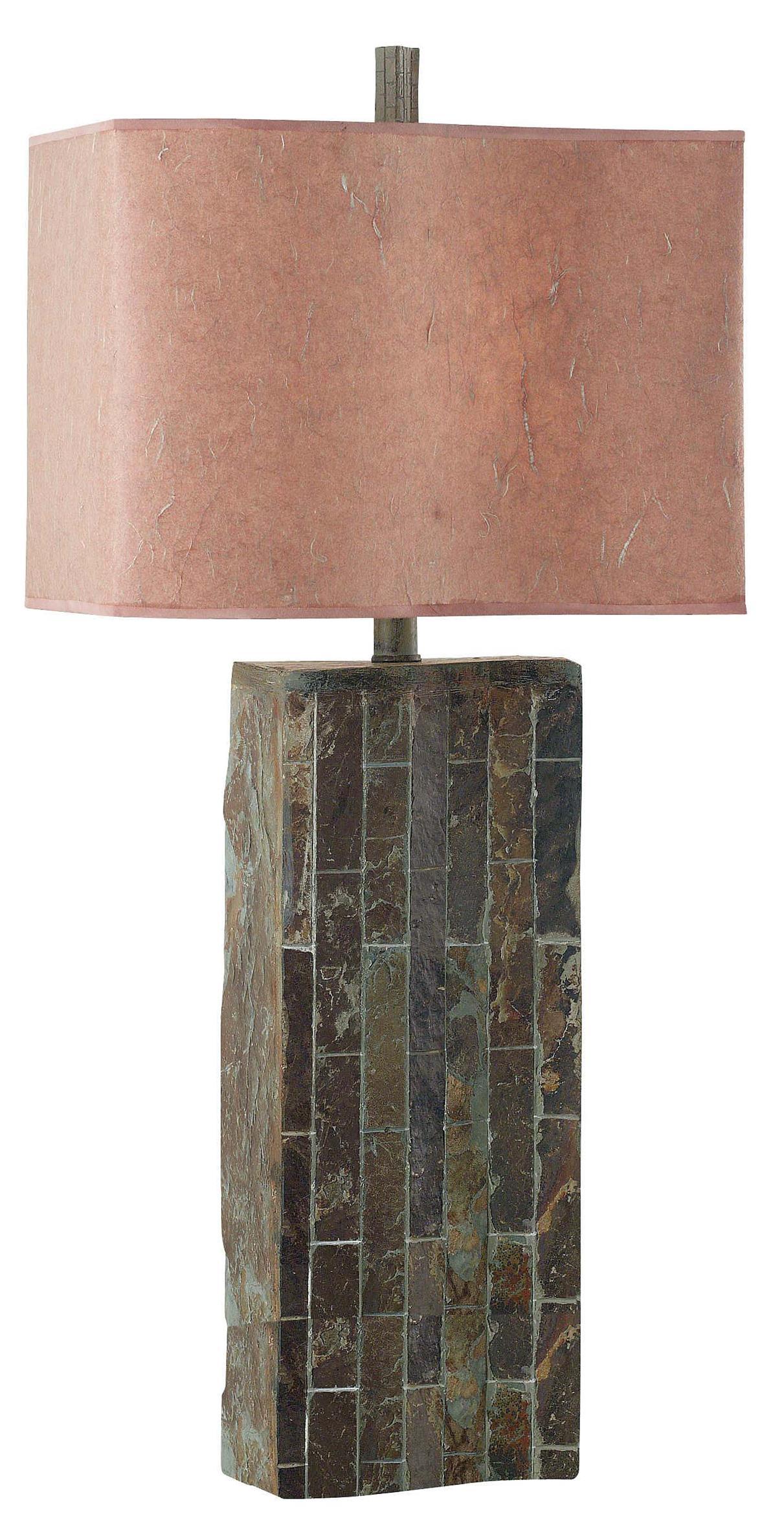 slate table lamp photo - 4
