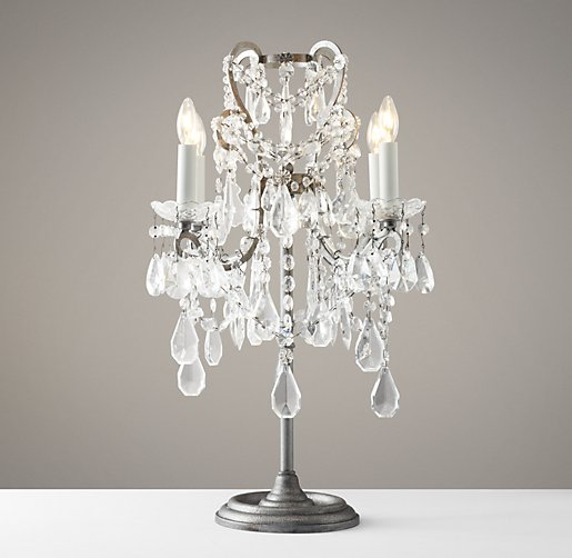 small crystal table lamps photo - 1