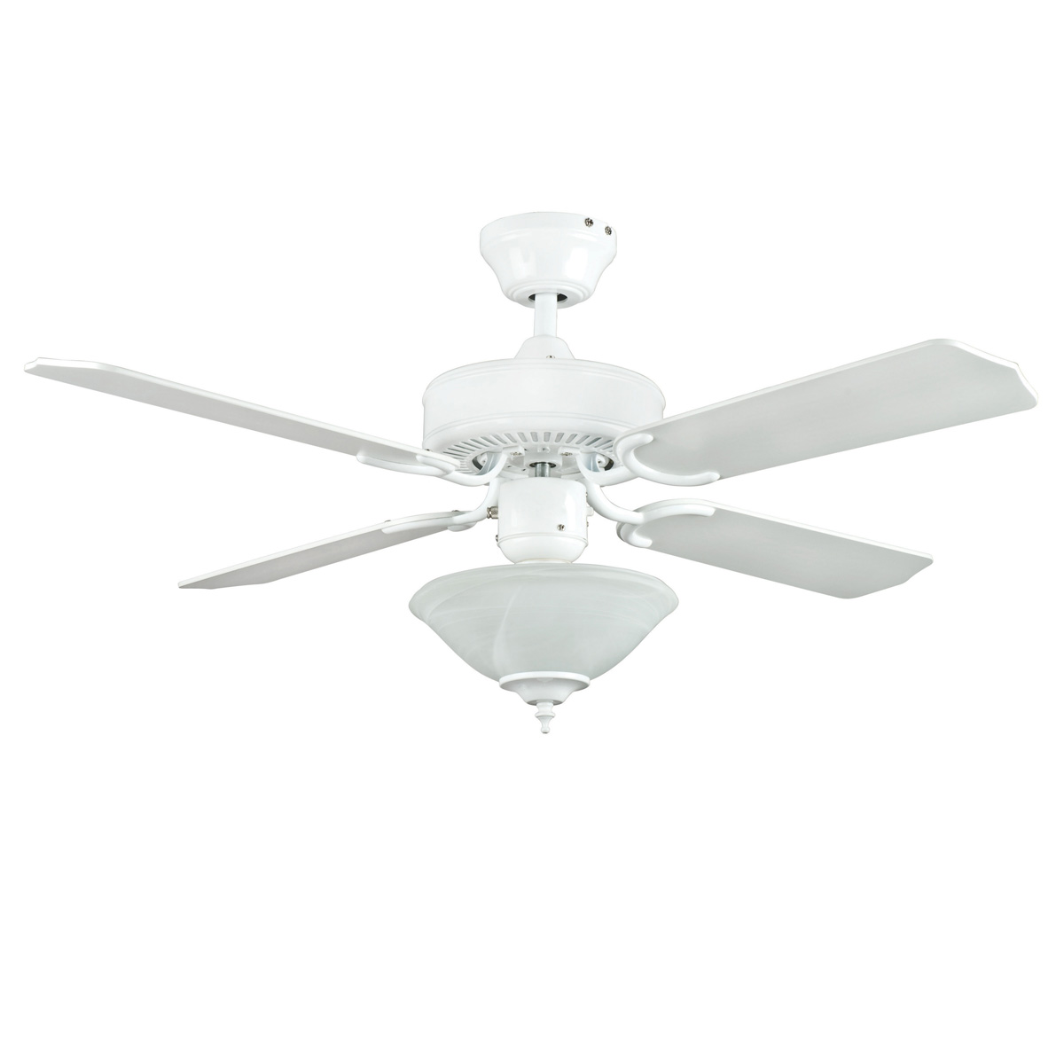 small white ceiling fans photo - 1