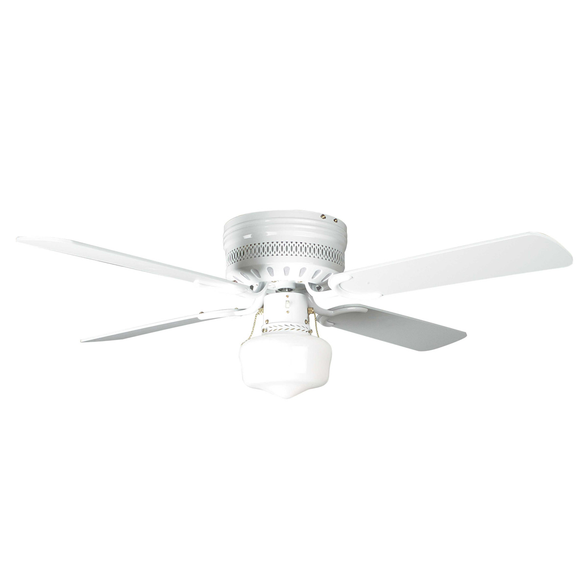 small white ceiling fans photo - 3