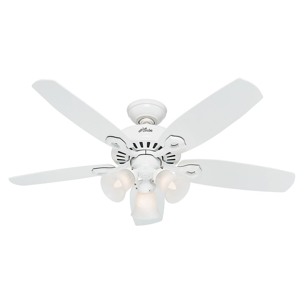 small white ceiling fans photo - 8