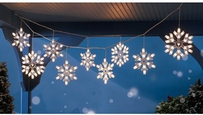 snowflake lights outdoor photo - 1