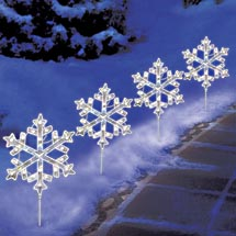 snowflake lights outdoor photo - 10