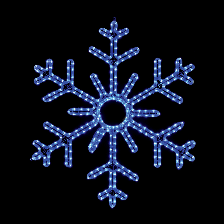 snowflake lights outdoor photo - 2