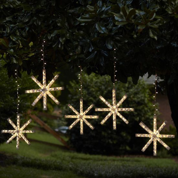 snowflake lights outdoor photo - 3
