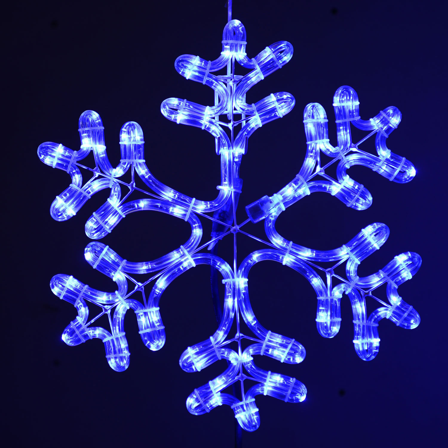 snowflake lights outdoor photo - 4