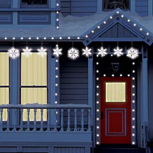 snowflake lights outdoor photo - 6