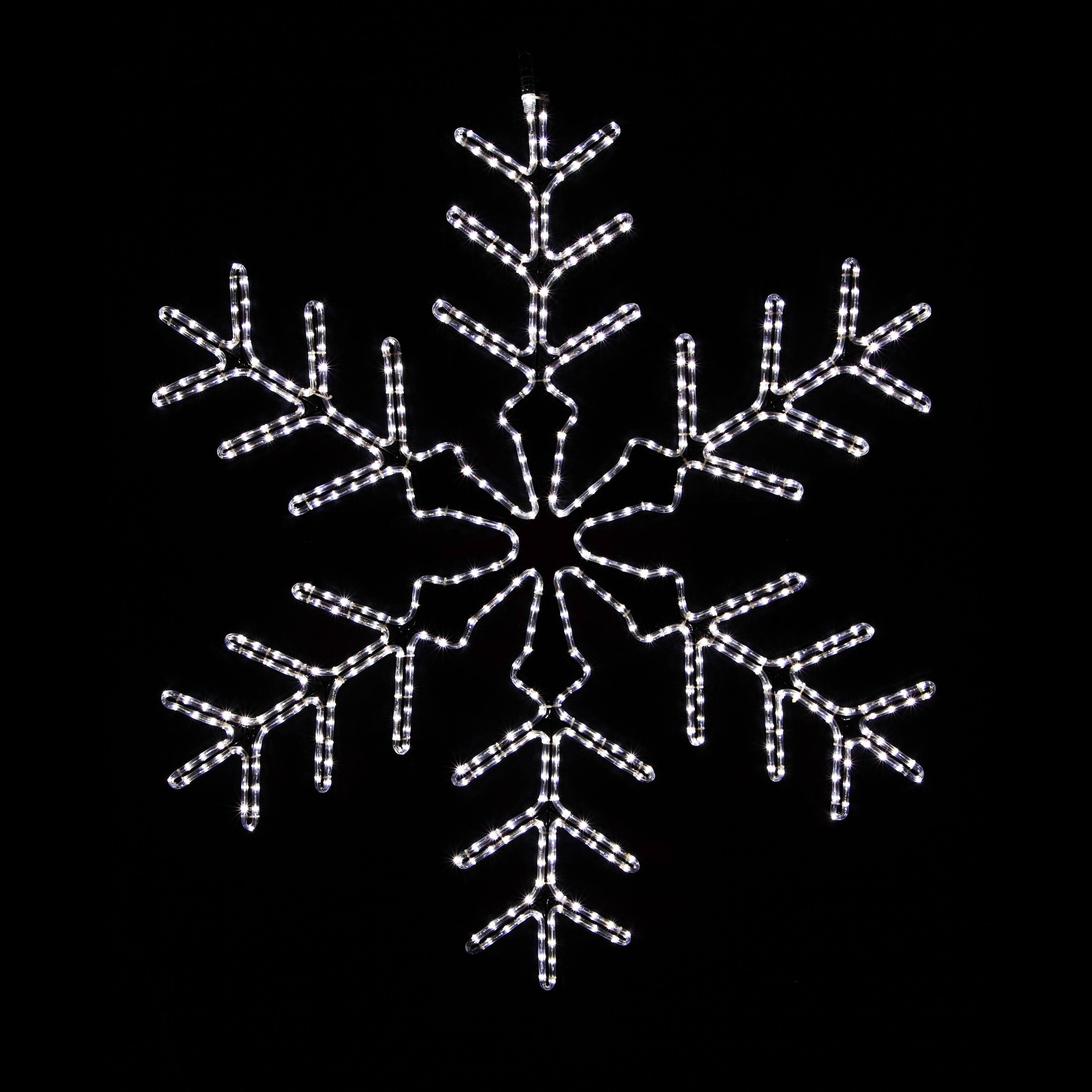 snowflake lights outdoor photo - 8
