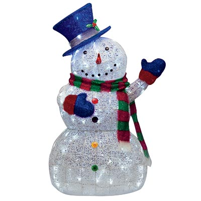 snowman outdoor lights photo - 3