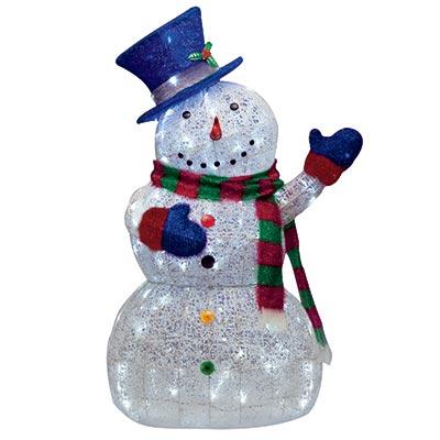 snowman outdoor lights photo - 3