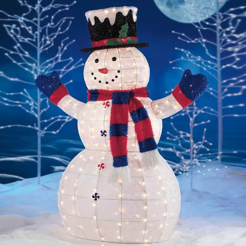 Snowman outdoor lights 12 ways to make your christmas for Led outdoor christmas ornaments