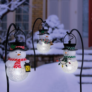 snowman outdoor lights photo - 7