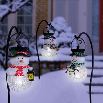 snowman outdoor lights photo - 7