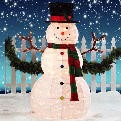 snowman outdoor lights photo - 9
