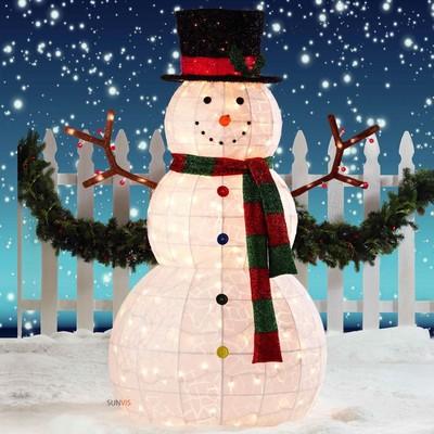 snowman outdoor lights photo - 9