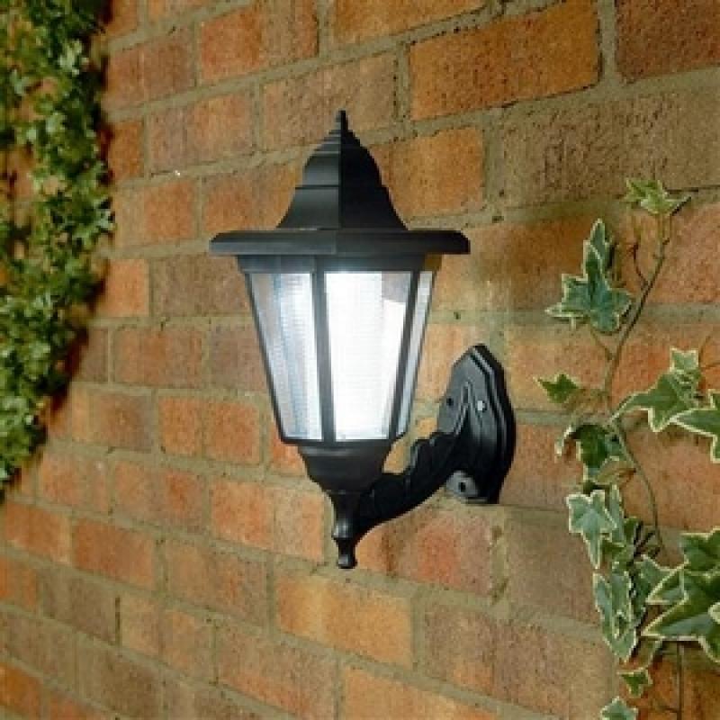 solar garden wall lights photo - 3
