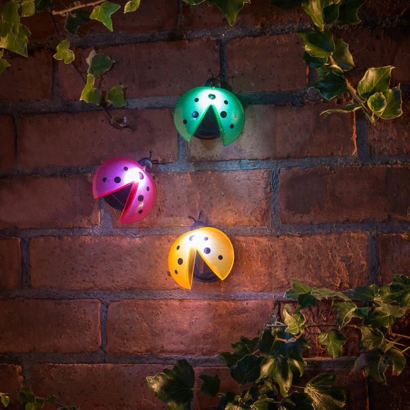 solar garden wall lights photo - 8