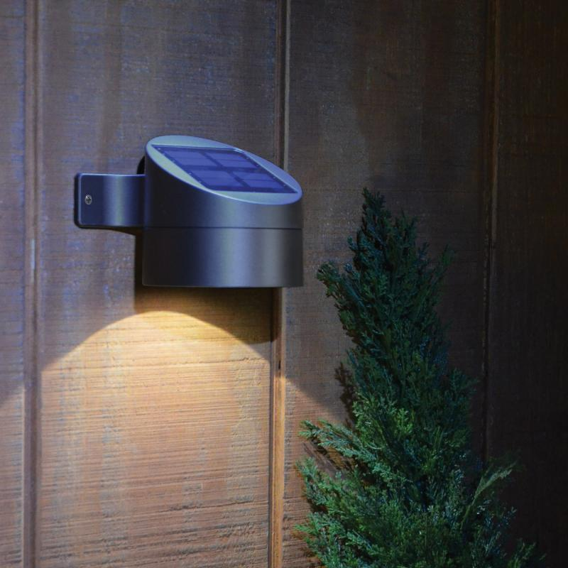 solar powered exterior wall lights photo - 2
