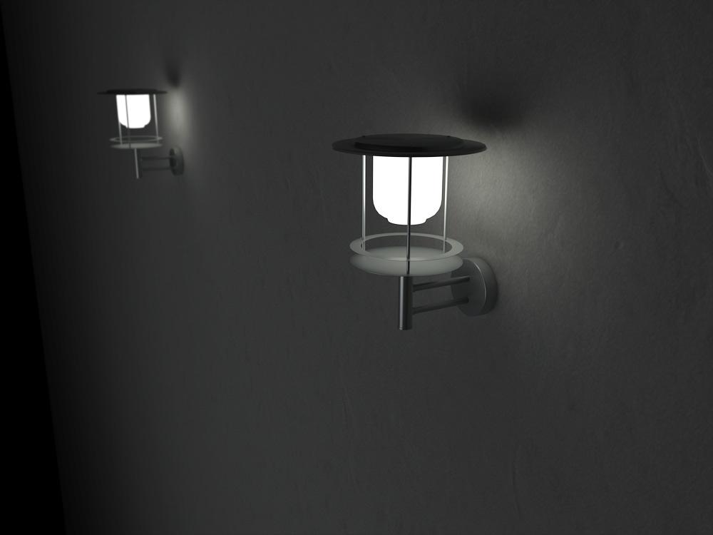 solar powered wall lights photo - 7