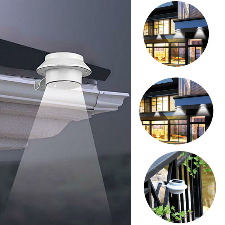 solar powered wall lights outdoor photo - 2