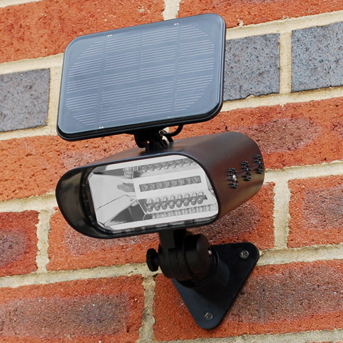 solar powered wall mounted lights photo - 1