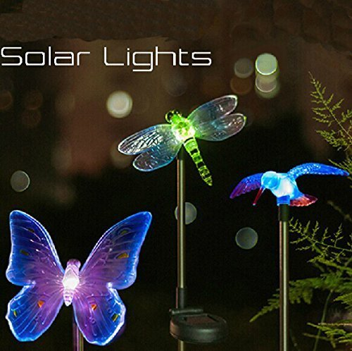 solar stake lights outdoor photo - 2