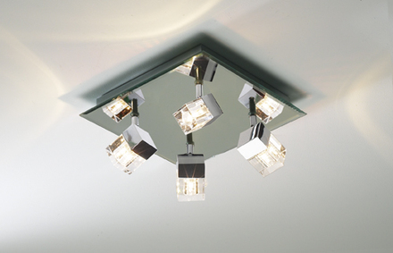 square bathroom ceiling lights photo - 1