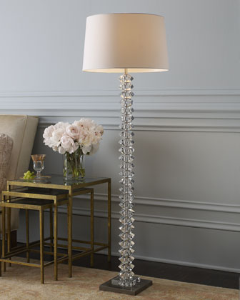 stacked ball floor lamp photo - 1