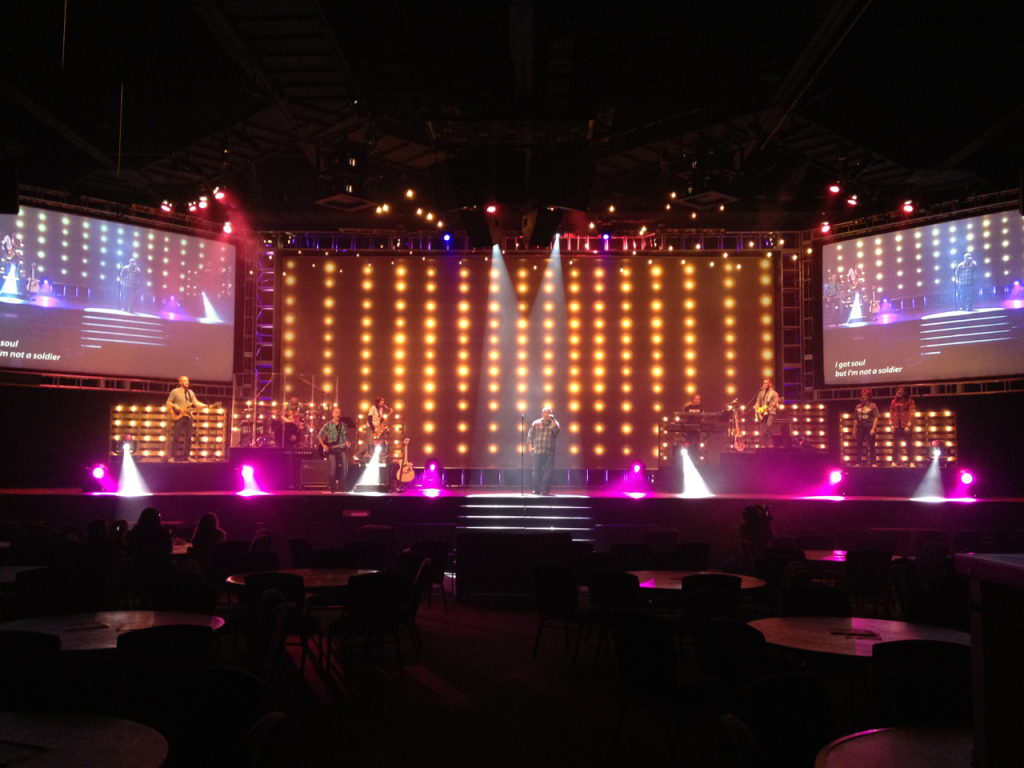 stage lamps photo - 2