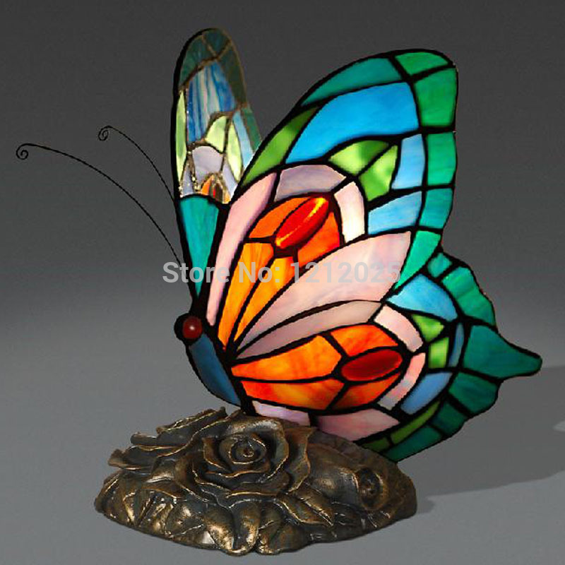 Stained Glass Butterfly Lamp Warisan Lighting