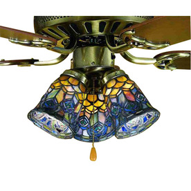 stained glass ceiling light. Stained Glass Ceiling Fan Light Shades Photo - 1
