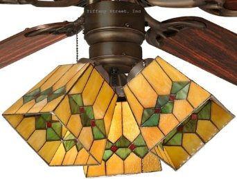 Add decor and lighting to your room using stained glass ceiling fan stained glass ceiling fan light shades photo 5 aloadofball Images