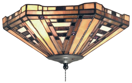 stained glass ceiling fan light shades photo - 9