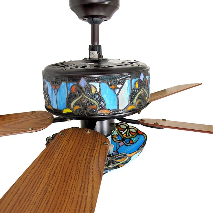 stained glass ceiling fans photo - 1
