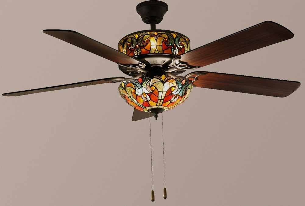 stained glass ceiling fans photo - 6
