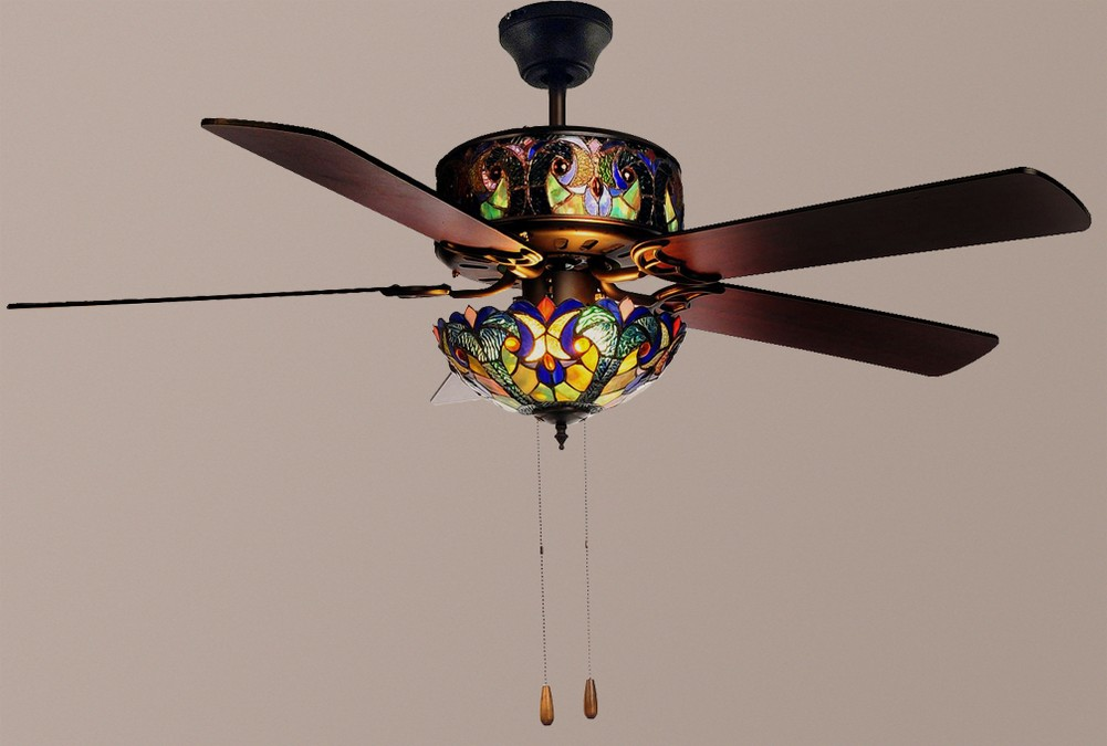 stained glass ceiling fans photo - 7
