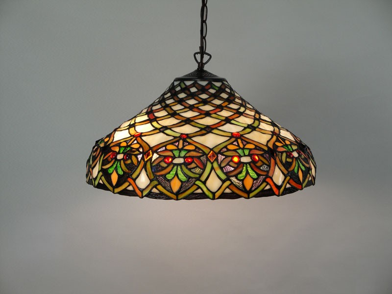 stained glass ceiling lamps photo - 1