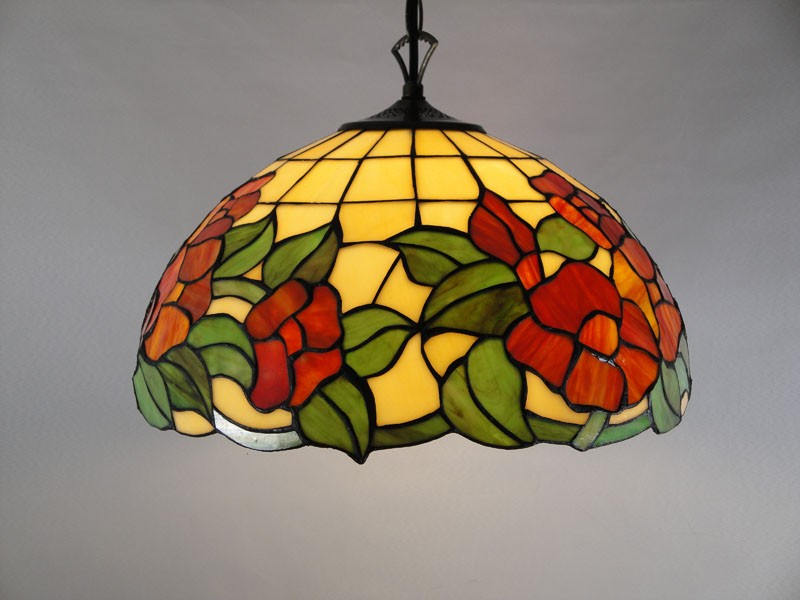 stained glass lights ceiling photo - 1