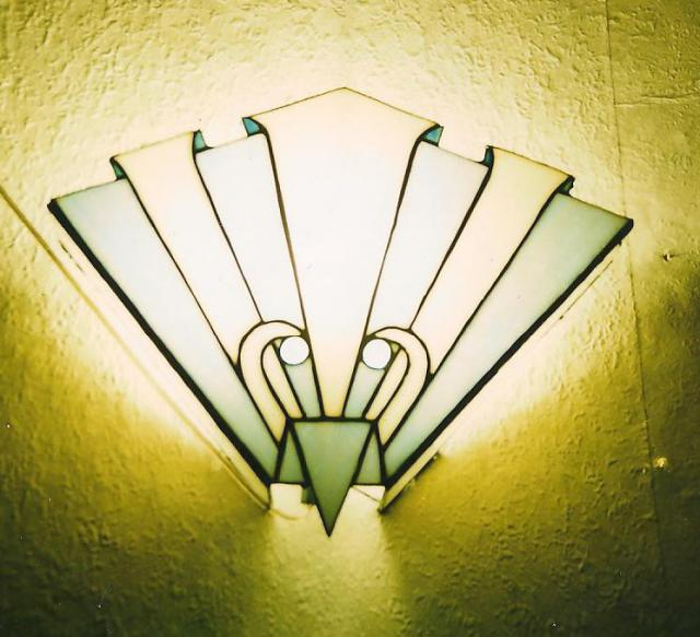stained glass wall lights photo - 3