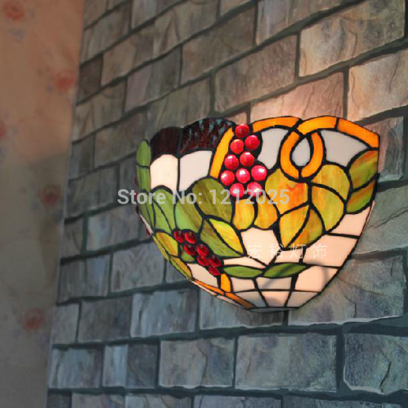 stained glass wall lights photo - 6