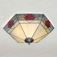 stained glass wall lights photo - 9
