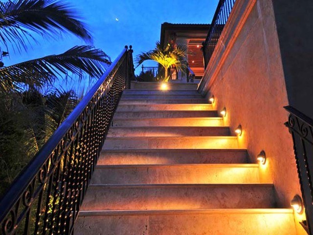 stair lights outdoor photo - 1