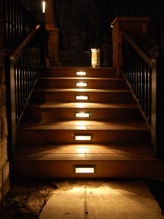 stair lights outdoor photo - 2