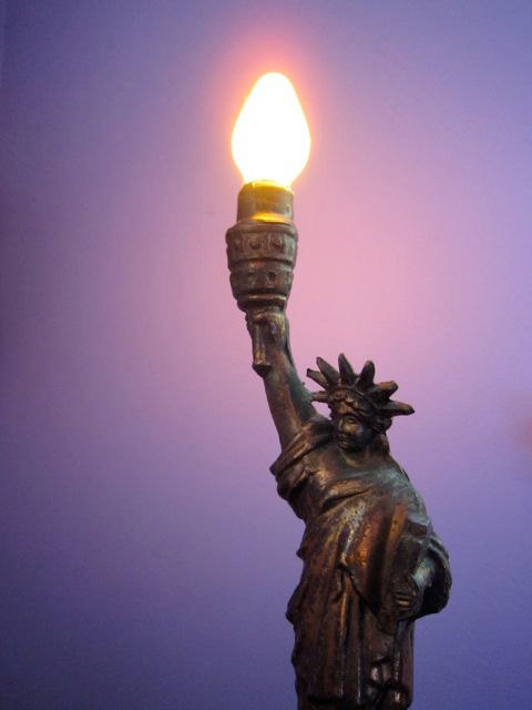 statue of liberty lamp photo - 9