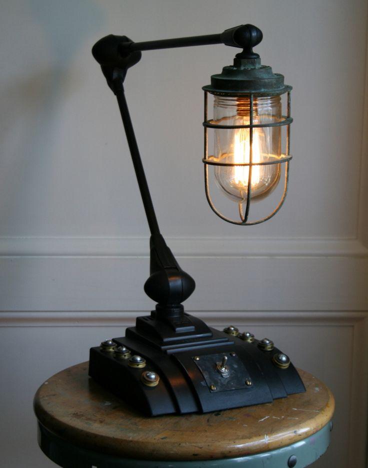steampunk desk lamp photo - 1